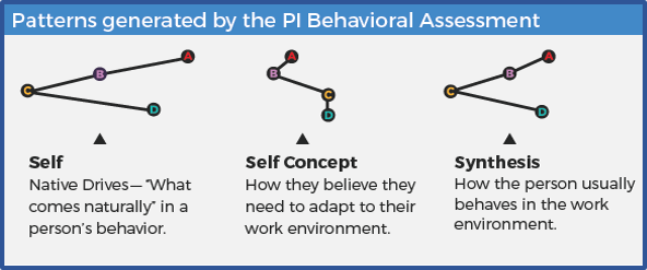 Patterns generated by the Behavioral Assessment
